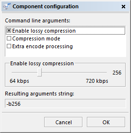 The old config dialog for external codecs